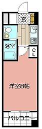ASレジデンス吉塚[203号室]の間取り