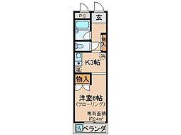 京都府京都市山科区西野大鳥井町の賃貸マンションの間取り