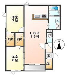 仮)北31条西5丁目新築AP[2階]の間取り