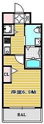エステムコート難波WEST-SIDEⅣザ・フォース[8階]の間取り