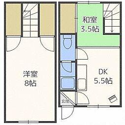 セブンロード32[2階]の間取り