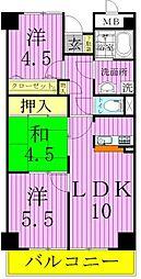 フルネスサヤマ[3階]の間取り