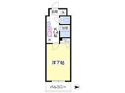 フォレステージ桜川6階Fの間取り画像