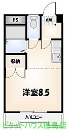 沖浜コーポ II[205号室]の間取り