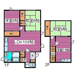 [タウンハウス] 北海道札幌市北区屯田七条11丁目 の賃貸【北海道 / 札幌市北区】の間取り