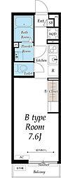 京成本線 八千代台駅 徒歩5分の賃貸アパート 2階1Kの間取り