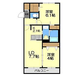 アッパーヴィレッジ新札幌[3階]の間取り