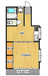マンションソレイユ201[2階]の間取り