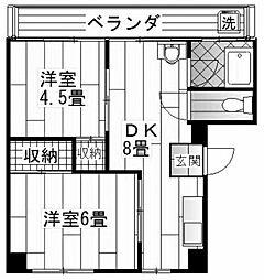 角田ビル[2階]の間取り