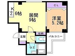 ハウスサークヒル[3階]の間取り