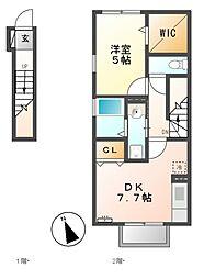 CASA CHIKUSA[2階]の間取り