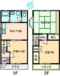 [テラスハウス] 神奈川県座間市緑ケ丘1丁目 の賃貸【/】の間取り