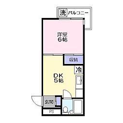 グリーンハイツ堂形[4階]の間取り