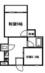 パシフィック林寺[405号室]の間取り