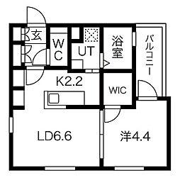 愛知県名古屋市南区柵下町4丁目の賃貸アパートの間取り