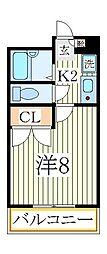 フルール南青山[2階]の間取り