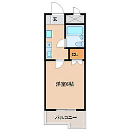 兵庫県尼崎市南塚口町5丁目の賃貸マンションの間取り