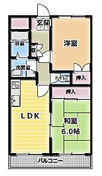 富士藤田マンション[2階]の間取り