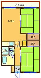 大滝第1ビル[4B号室]の間取り