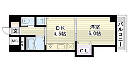 ノルデンハイム今福[605号室]の間取り