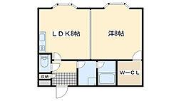 マンション桜[303号室]の間取り