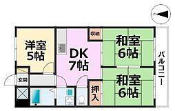 橋本第2マンション[101号室号室]の間取り