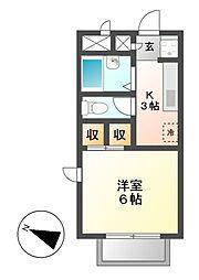 サンビラ早川[2階]の間取り