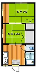 石塚コーポ[1階]の間取り