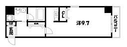 京都府京都市中京区少将井町の賃貸マンションの間取り