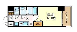 名古屋市営東山線 本山駅 徒歩2分の賃貸マンション 7階1Kの間取り