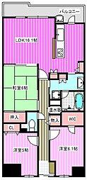 イングス法貴寺[1階]の間取り