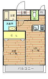 フジパレス福島サウス[1階]の間取り