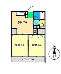 MATSUGIハイツ[2階]の間取り