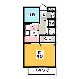 やまざきビル[4階]の間取り