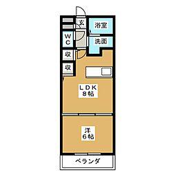 愛知県名古屋市港区当知2の賃貸マンションの間取り
