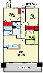 アプローズ戸畑駅 参番館[7階]の間取り