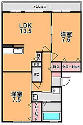 ベローチェ梅美台[1階]の間取り