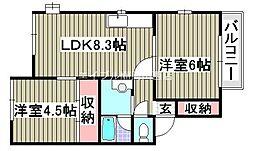BM3 FUJISAWA[2階]の間取り