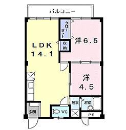 メゾンタマキ[2階]の間取り