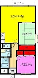 ドミール東鴻池[305号室]の間取り