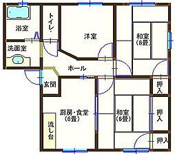ラフォーレ山川 203号室[2階]の間取り
