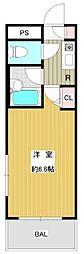ヴェルト市谷薬王寺(ネット無料)[403号室号室]の間取り