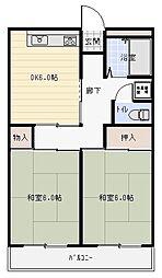 東山本ハイツ[6階]の間取り