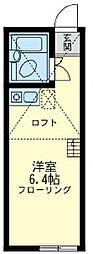 ユナイトステージ 井土ヶ谷弐番館[1階]の間取り