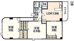 ウィンディア八幡[5階]の間取り