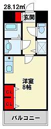 アネシス小文字[9階]の間取り