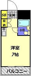 メゾン・ド・ノア大和田[408号室]の間取り