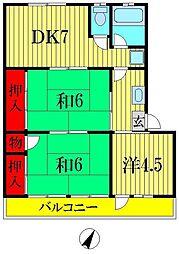塚田ハイツ[3階]の間取り