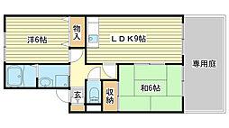 シャトーKANAHO[203号室]の間取り