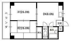 ルーチェ長田[4階]の間取り